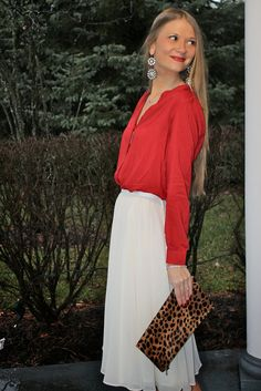 Sweets and Style Just Right: Red white & leopard