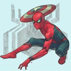 MCU Spider-Man, by Bryan Valenza! ~Grayson #Spiderman #PeterParker #MarvelCinematicUniverse ...