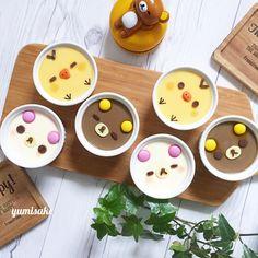 Rilakkumar, Korilakkumar & Kiiroitori panacotta desserts by Mami (@yumisake)