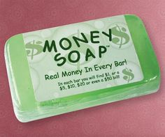 Money soap - this is so cool!!