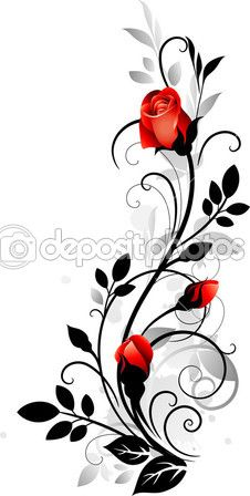 Ornament with roses – kaufen Sie dieses stock-vektorgrafik auf Shutterstock un… Ornament with roses – Buy this stock vector artwork on Shutterstock and look for more pictures. Rose Illustration, Art Floral, Flower Tattoos, Rose Vine Tattoos, Fabric Painting, Body Art Tattoos, Tattoo Arm, Tattoo Ribs, Painted Rocks