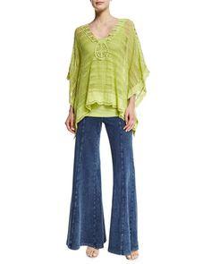 Ara+Hacienda+Crochet+Top,+Basic+Slim+Cotton+Tank+&+French+Terry+Wide-Leg+Pants++by+XCVI+at+Neiman+Marcus.
