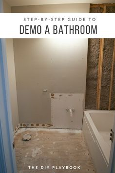 Step-by-step guide to demo a bathroom in a weekend. The first step on our bathroom renovation to-do list was to rip absolutely everything on outta there! If we can demo a bathroom in a weekend, then anyone can. Here are the steps we took to get it all cle Diy Bathroom Remodel, Diy Bathroom Decor, Bathroom Renos, Bathroom Renovations, Small Bathroom, Seashell Bathroom, Home Remodeling Diy, Master Bathroom, Bathroom Remodelling
