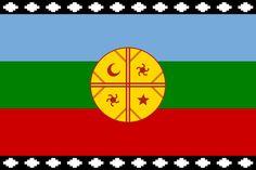 Flag of the Mapuches - Wikipedia Cthulhu Tattoo, South America Map, Chili, America Memes, Argentine, Social Art, Bead Loom Bracelets, Symbolic Tattoos, Loom Beading