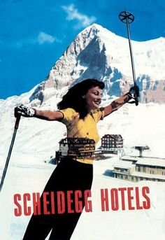 Scheidegg Hotels 12x18 Giclee on canvas