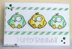 Happy Birthday #card by Karen Oliver #PaperSmooches #ChubbyChums