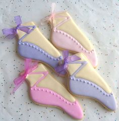 Ballet Slipper Cookies~                      by lorisplace, $38.99, pink, purple