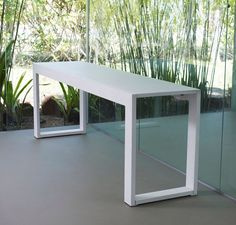 Hanover long console features wood base with glass top. Available in multiple colors. Made in Brazil. Buy Hanover Long Console Table at Deko Exotic Home Accents.