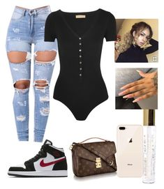 featuring Michael Kors and NIKE Swag Outfits For Girls, Cute Swag Outfits, Teenage Girl Outfits, Cute Comfy Outfits, Teenager Outfits, Stylish Outfits, Freshman Outfits, Baddie Outfits Casual, Boujee Outfits