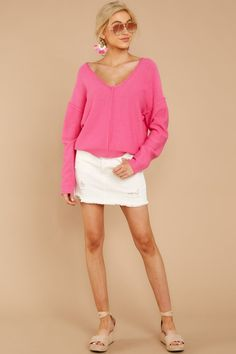 b018c73fb5bc Obsession With Love Bubblegum Pink Sweater