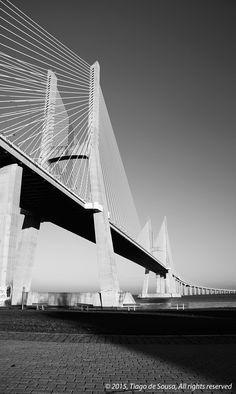 Vasco da Gama Bridge, Parque das Nações, Lisbon, Portugal by Tiago de Sousa on 500px