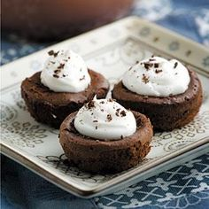 Mini Mousse Cupcakes | MyRecipes.com