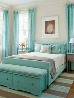How to Decorate a Beach Style Bedroom - See our collection of design ideas for decorating a coastal bedroom on SeasideBeachDecor.com