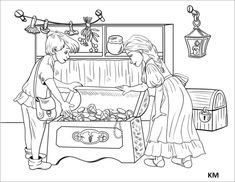 Hansel and Gretel Discover Chests Full of Pearls and Jewels in the Witch's House House Colouring Pages, Coloring Pages, Household Budget, Rainy Day Activities, Witch House, Young Ones, Pin Cushions, Fairy Tales, Kindergarten