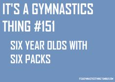 (It's a gymnastics thing) Six year olds with six packs
