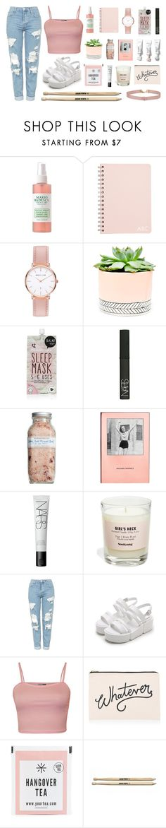 """""""strawberry champagne."""" by quiescentsoul ❤ liked on Polyvore featuring Abbott Lyon, Hostess, Forever 21, NARS Cosmetics, Farmaesthetics, Kate Spade, Soohyang, Topshop, WearAll and ALPHABET BAGS"""