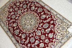 上品の赤色玄関マットナイン産地ペルシャ絨毯55069、じゅうたん販売ショップ