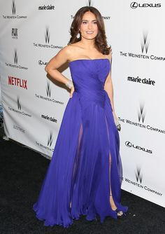 Salma Hayek attends the 2015 Weinstein Company and Netflix Golden Globes After Party at Robinsons May Lot on January 11, 2015 in Beverly Hills, California. (Photo by JB Lacroix/WireImage)