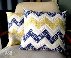 Quilted Pillow Cases. Should make some to match the quilt that's on our bed