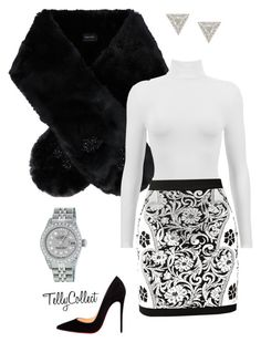 """Untitled #33"" by tellycollect on Polyvore featuring Simone Rocha, Balmain, Rolex, Lizzie Mandler and Christian Louboutin"