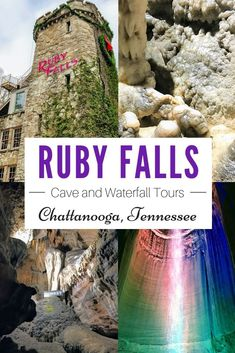 Ruby Falls Cave Tours and waterfalls is an absolute must-see attraction in Chattanooga. Hundreds of years ago, ancient rock formations in the Tennessee Mountains of Chattanooga, created some of the most beautiful places to visit today. Ruby Falls is a tru Beautiful Places To Visit, Cool Places To Visit, Places To Go, Cave Tours, Mountain Vacations, Family Vacations, Tennessee Vacation, Viewing Wildlife, All I Ever Wanted