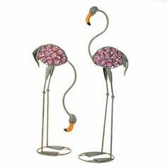 Glass Art Flamingo Statues - Garden