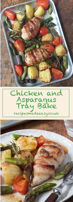 Quick, Easy and Delicious -Chicken and Asparagus Tray Bake by Recipes Made Easy. Perfect for a mid week meal and entertaining. via Recipes Made Easy Jacqueline Bellefontaine Midweek Meals, Healthy Dinners, Chicken Asparagus, Turkey Dishes, Yum Yum Chicken, Main Meals, Tray Bakes, Food To Make, Chicken Recipes