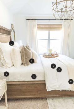 How to make a bed like a magazine. Different tips & tricks to help you create a comfortable bed. #bedroomdecor #bedroomdesign. Small Master Bedroom King Bed | Small Bedroom Organization | How To Make A Room Look Bigger With Curtains | How To Make A Room Look Bigger With Paint. #valentines_day #Kelley Nan Blog. You can get more details by clicking on the image.