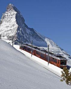 Switzerland's Gornergrat Bahn, the highest outdoor cog railway in the world, has been chugging up the mountain from Zermatt since 1898.