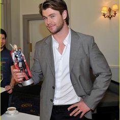 Thor holding Thor!