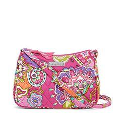Vera Bradley Little Crossbody Handbag (Pink Swirls)
