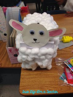Valentine's Day Mailbox - turn a tissue box into an animal mailbox