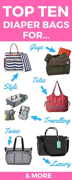A diaper bag or nappy bag is a storage bag with many pocket-like spaces that is big enough to carry everything needed by someone taking care of a baby while taking a typical short outing. Before Baby, After Baby, Best Diaper Bag, Diaper Bags, Friends Mom, First Time Moms, Baby Hacks, Mom And Baby, Baby Baby
