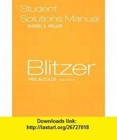 Precalculus 5th edition book pinterest precalculus precalculus student solutions manual 9780131880399 dan miller robert f blitzer isbn fandeluxe Choice Image