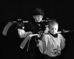 Hockey photography brothers siblings photos. I'll have to remember this for next year.