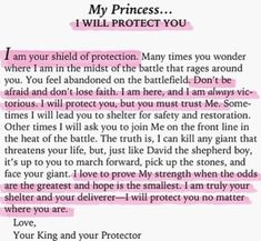 I will protect you... His princess