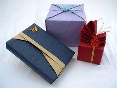 gift boxes with Mizuhiki cords