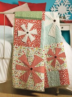Tis The Season Snowflakes Christmas Quilt Kit by acquiltfabric