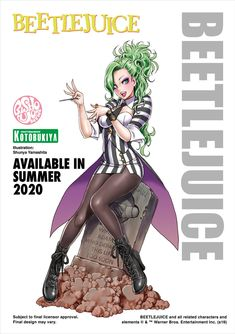 At the 2019 San Diego Comic-Con, Kotobukiya revealed the next entry into their Horror-themed bishoujo statue line - Beetlejuice! Illustration by Shunya Yamashita. The statue will be available Summer Beetlejuice, Horror Art, Horror Movies, Horror Cartoon, Female Horror Characters, Manga Anime, Anime Art, Bishoujo Statue, Character Art
