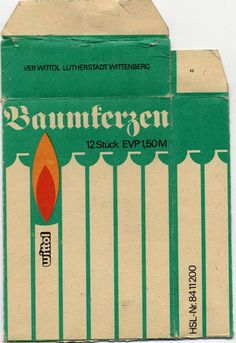 christmas tree candles from GDR -  Wittol