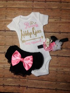 custom baby girl coming home outfit newborn baby by SweetnSparkly