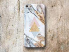 Etuis téléphones portables, Marbre Or Triangle Coque iPhone Samsung Huawei HTC est une création orginale de michaelcase sur DaWanda