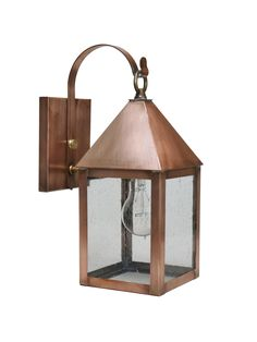 Brass Traditions Lighting 531-P Wall Lantern in Antique Copper  #brasstraditions #CTmade #handcrafted #solidcopper #outdoorlighting #classic #coastal #antiquestyle #exterior #copperlighting #farmhousestyle #copper #porchlight #traditional #newengland #cottagestyle #offthewall #walllight #vintageinspired #nautical #craftsmanstyle #seedyglass #wall #lantern #modernfarmhouse #made2order #lightingfixture #shopsmall #Connecticut #madeinUSA #madeinAmerica #Americanmanufacturing #buylocal Outdoor Wall Lantern, Outdoor Walls, Porch Lighting, Outdoor Lighting, Carriage Lights, Copper Lantern, American Manufacturing, Copper Lighting, Cabin Design