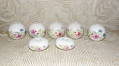 Vintage Porcelain Door knobs Curtain Rod Ends by FabulousFinds1, $59.50