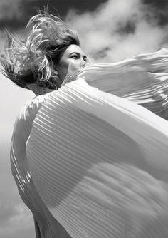 Photographer: Camilla Akrans at Lundlund. Fashion Stylist: Cathy Kasterine. Hair: Franco Gobbi. Makeup: Lisa Houghton. Model: Karlie Kloss.
