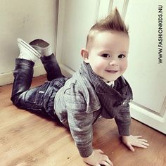 what a cutie! i'm sure he could pull anything off. but he looks smashing Love this outfit, does it come in my size.