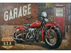 Garage , schilderij van metaal   (wand) Decoratie & beelden van metaal   Steeg80 moestuin enzo Decoration, Garage, Van, Products, Engine, Shape, Decor, Carport Garage, Garages