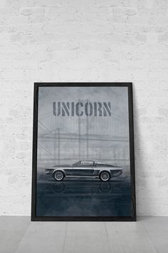Ford Mustang Poster, Eleanor, Movie poster inspired by Gone in 60 seconds, Printable Art, Wall Decor, Illustration on Etsy, $5.00