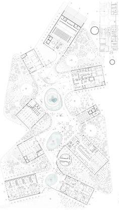Plan Architecture Site Plan, Architecture Panel, Architecture Graphics, Urban Architecture, Concept Architecture, Architecture Drawings, Sketches Arquitectura, Plan Drawing, Site Plans