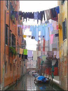Laundry Day - Venice - Italy